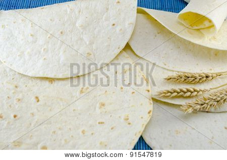Fresh Tortillas And A Stick Of Wheat