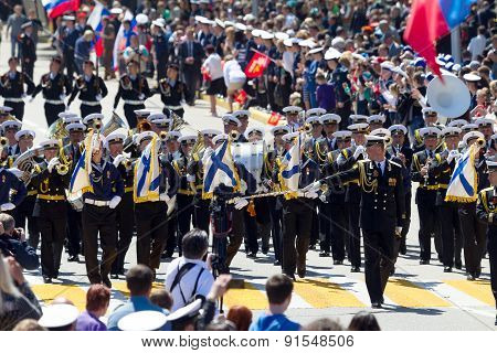 Sevastopol / Crimea - May 9, 2015: Parade In Honor Of The 70Th Anniversary Of Victory Day, May 9, 20