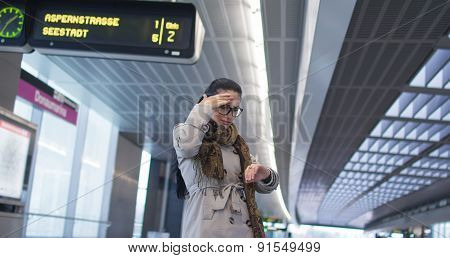 Woman Was Late For A Train