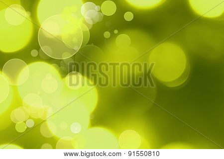 Abstract green and yellow circles background