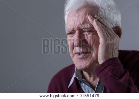 Old Man Has Headache