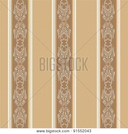 Vintage Tablecloth Seamless Pattern. Beautiful Vector Background, The Idea For Decor, Wallpaper And