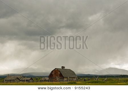 Barn with Storm