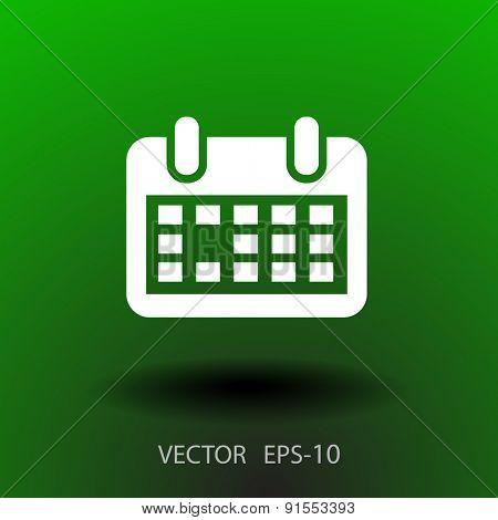 Flat icon of calendar