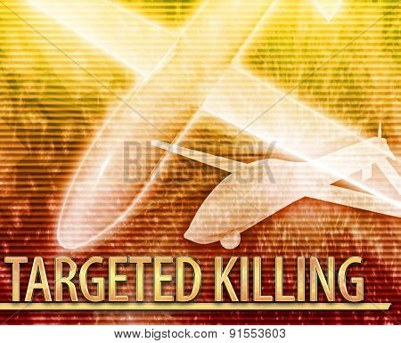 Abstract background digital collage concept illustration targeted killing drone