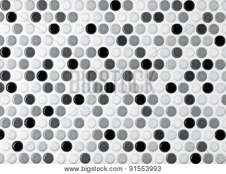 round marble textures gray and black ball tiles seamless