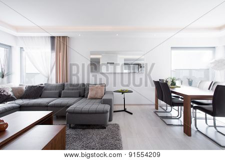 Living Room With Table
