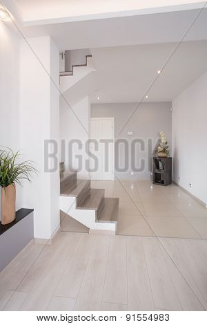 Hallway With Stairs