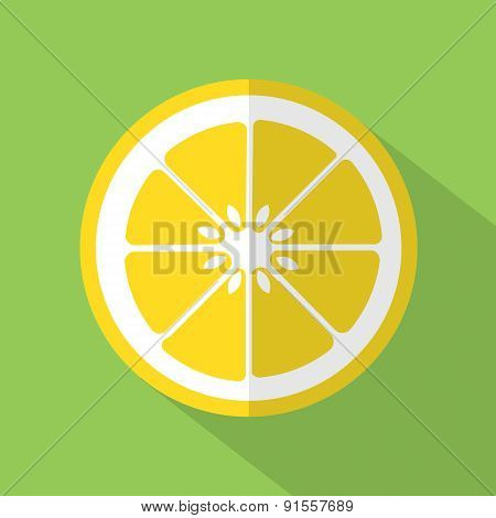 Flat Design Lemon Icon.