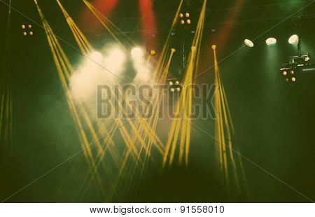 Stage lights - retro style