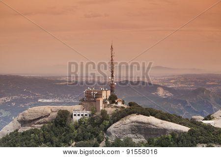 Sunset in the mountains - Montserrat, Spain