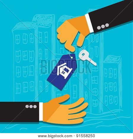 Vector, real, estate, concept, flat, style