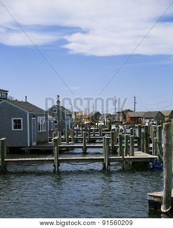 Fishing village in Massachusetts