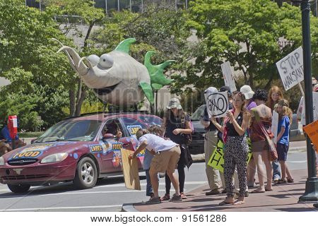 Peaceful Gmo Protest Rally