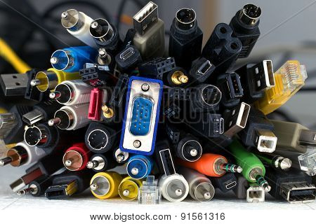 Many Cables With Different Connectors