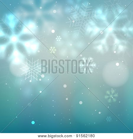 Blue And Turquoise Winter Background