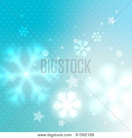 Blue Blurred Frosty Background