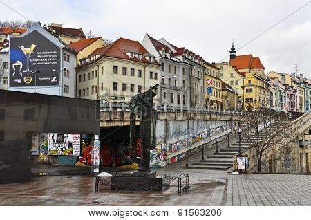 Streets of Slovakia capital Bratislava City