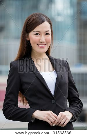 Young Businesswoman at outdoor