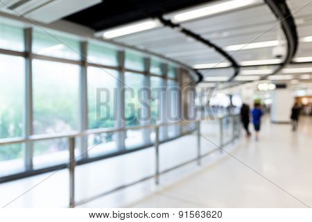 Blur image of corridor and light for background usage