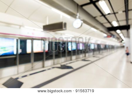Blur background of metro station