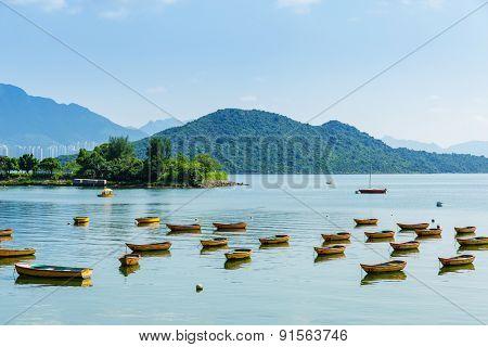 Beautiful coastline and boat