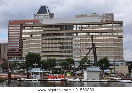 The Inner Harbor in Baltimore, Maryland