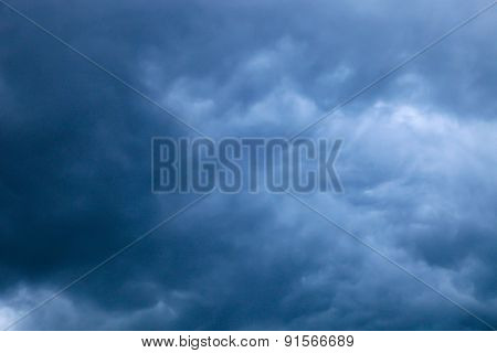 Gray and black storm clouds
