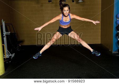 Girl Doing Jump Split