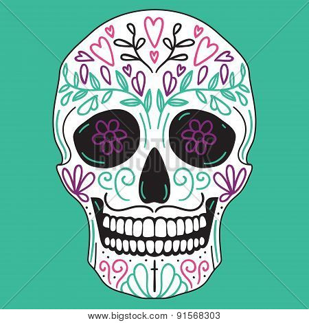 Mexican Simple Sugar Skull