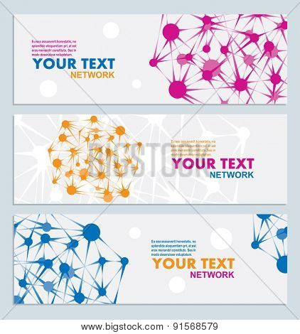 Abstract color network connection, vector illustration