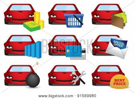 Automobile Industry Icons Set