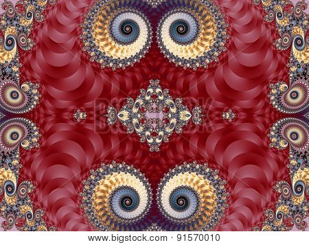 Beautiful Background With Spiral Pattern. Pink And Gray Palette. Artwork For Creative Design