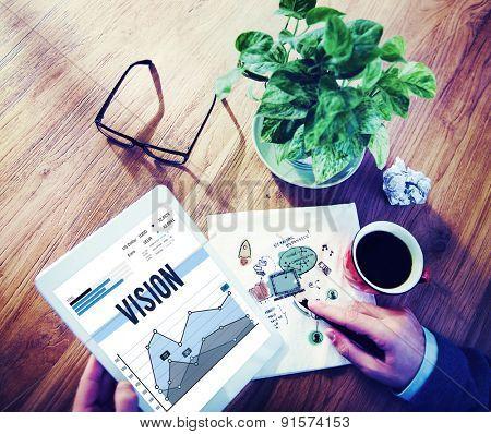 Vision Inspiration Mission Ideas Motivation Concept