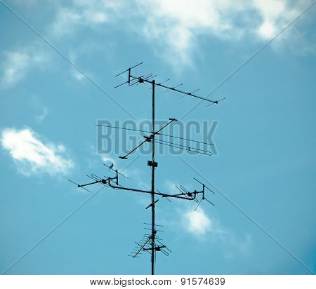 Old antenna for television