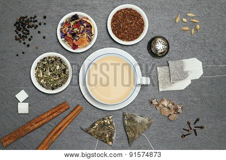 Collecion Of Several Sorts Of Tea And Spices