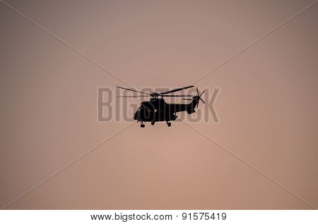 Military Helicopter Silhouette
