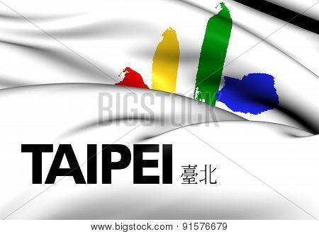 Flag Of The Taipei, Taiwan.