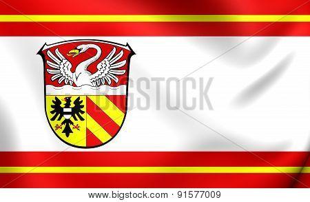 3D Flag Of Main-kinzig, Germany.