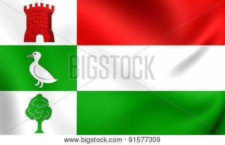 3D Flag Of Halderberge, Netherlands.