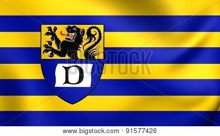 Flag Of Duren, Germany.