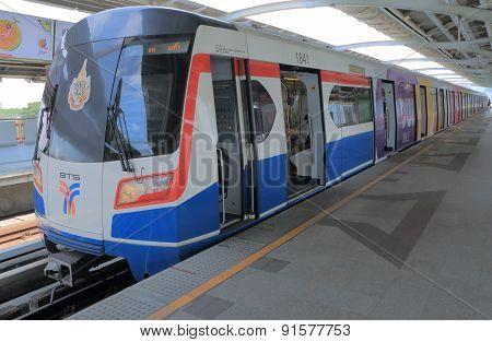 BTS train Bangkok Thailand