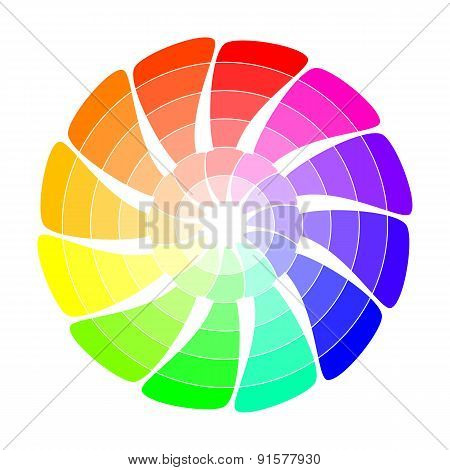 Color wheel from arrows