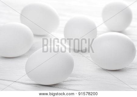 Many white eggs