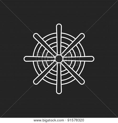 Rudder Line Icon