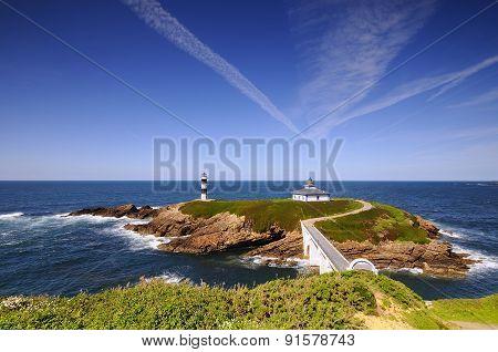 Pancha Island In Ribadeo, Spain.