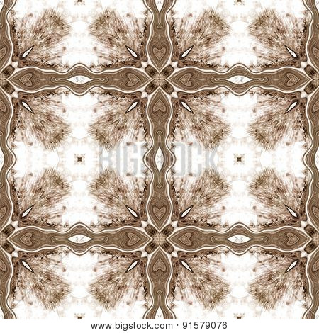 Seamless Ornate Texture Or Pattern In Brown 3