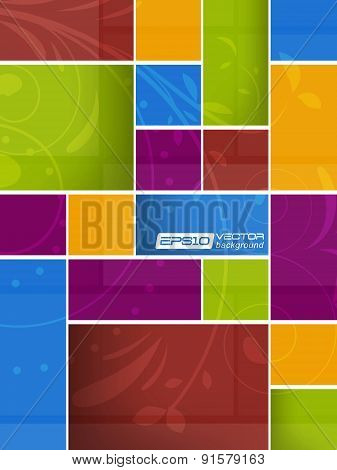 Abstract vector background in metro style
