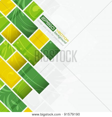 Abstract vector background with floral pattern