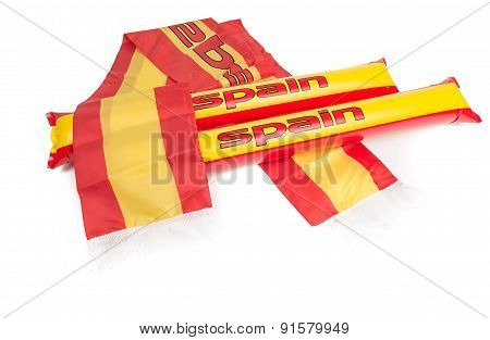 Fans Thundersticks - Spain Football Isolated